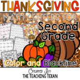 Second Grade Thanksgiving Math Center Games and Activities
