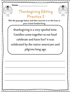 Second Grade Thanksgiving Math & ELA Packet *Common Core Aligned*