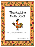 Second Grade Thanksgiving Math Scoot