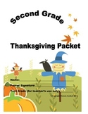 Second Grade Thanksgiving Packet