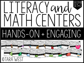 Second Grade Themed Literacy & Math Centers for the Year: