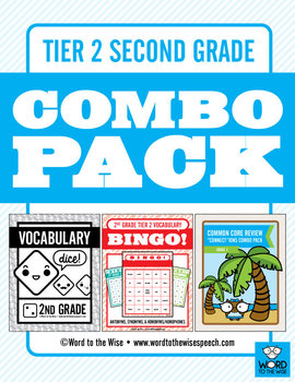 Second Grade Tier 2 Vocabulary Combo Pack