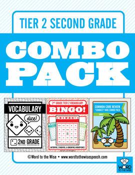 Second Grade Tier 2 Vocabulary Combo Pack