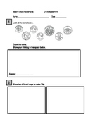 Second Grade Time and Money Assessment