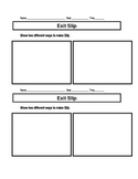 Second Grade Time and Money Exit Slips and Practice
