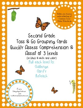 Second Grade  Toss & Go Grouping Cards Quickly Assess Comprehension & Assist