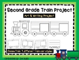 Second Grade Train Art Project, 2nd Grade Cut and Color - Cooperative Art