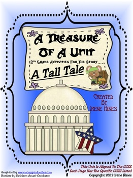 Treasures ~ A Treasure Of A Unit For 2nd Grade : A Tall Tale ~