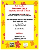 Second Grade Treasures Daily Reading Choice Cards for Unit 4