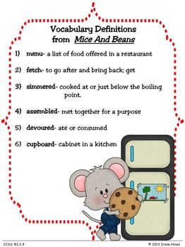 Treasures ~ A Treasure Of A Unit For 2nd Grade: Mice And Beans