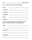 Second Grade Treasures Mice and Beans Vocabulary Worksheet