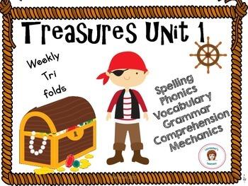 Treasures  Unit 1 Tri-fold Second Grade