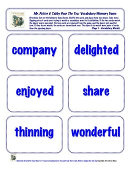 ⭐FREE⭐Second Grade Treasures Vocabulary Practice Packet FREE