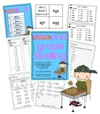 Second Grade Treasures Weekly Spelling Packets