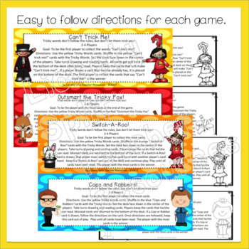 Second Grade Tricky Sight Words Four in One Games