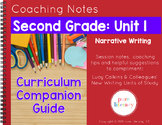 Second Grade Unit 1 Narrative Writing Curriculum Companion