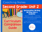 Second Grade Unit 2 Information Writing Curriculum Companion Guide