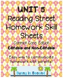 Second Grade Unit 5 Reading Street - Common Core Edition - Homework Skill Sheets