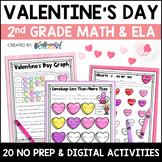 Valentine's Day Digital & Printable Math and ELA Activitie
