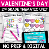 Valentine's Day Literacy and Math: No Prep Second Grade