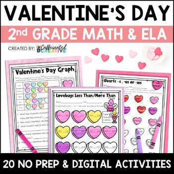 Valentine's Day Literacy and Math No Prep Mini Unit for Se