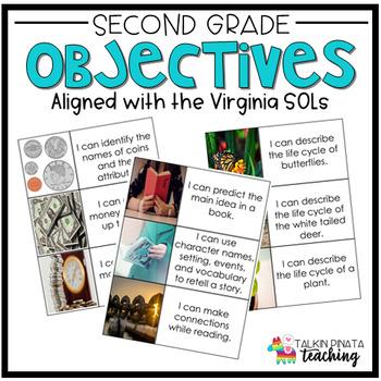 Second Grade Virginia Objective Cards