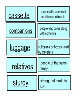 Second Grade Vocabulary Cards for SMART Board (Harcourt)