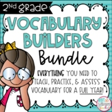 Second Grade Vocabulary FULL YEAR BUNDLE