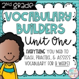 Second Grade Vocabulary Word Builders Unit 1