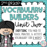 Second Grade Vocabulary Word Builders Unit 2