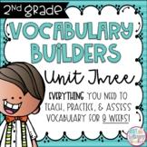Second Grade Vocabulary Word Builders Unit 3