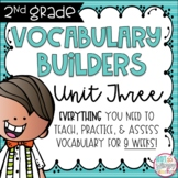Second Grade Vocabulary Word Builders Unit 3