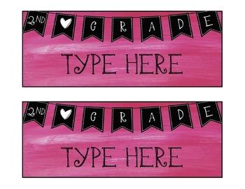 Second Grade Nameplates