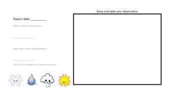 Second Grade Weather Journal