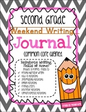 Second Grade Weekend Writing Journal Common Core Aligned