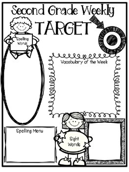 Second Grade Weekly Editable Homework Newsletter