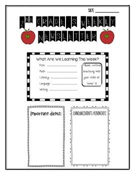 Second Grade Weekly Newsletter