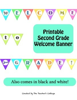 Second Grade Welcome Banner