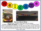 Second Grade Welcome/Bienvenidos Banner
