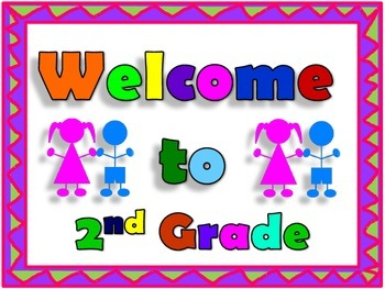 Second Grade Welcome Sign