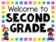Second Grade Welcome Signs - Free