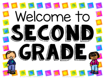 Second Grade Welcome Signs - Free by Nyla's Crafty Teaching   TpT