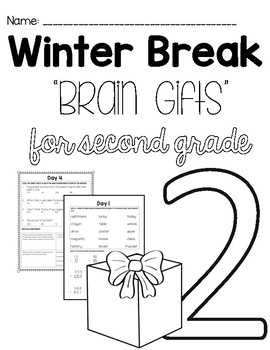 Second Grade Winter Break Packet