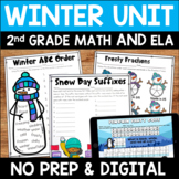 Winter Digital & Printable Math and ELA Activities Bundle