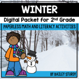 Second Grade Winter Math and Literacy Digital Packet