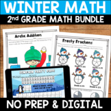 Winter No Prep Math Pack for Second Grade