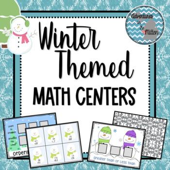 Second Grade Math Centers - Winter Themed