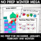 Winter and Holidays Literacy and Math No Prep Bundle for Second Grade