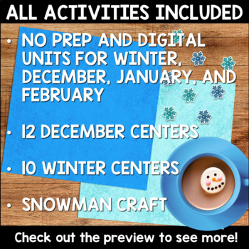 Winter Holidays Activities MEGA Bundle for Second Grade