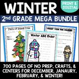 Winter Holidays Activities MEGA Bundle for Second Grade